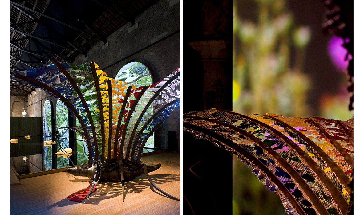 Giovanni Casellato farfalla biennale venezia