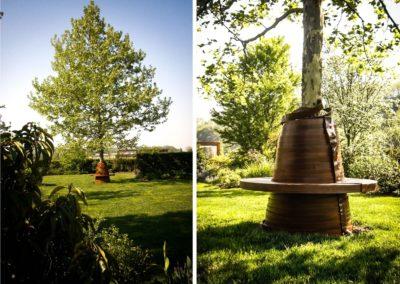 Panca sull'albero per Villa privata Treviso